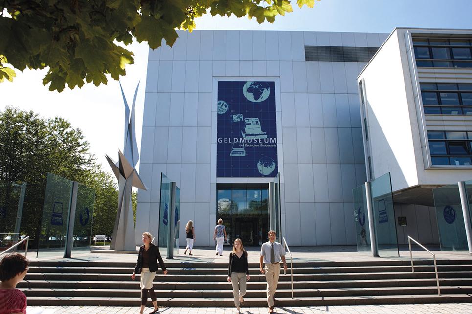 Außenansicht des Geldmuseums Frankfurt