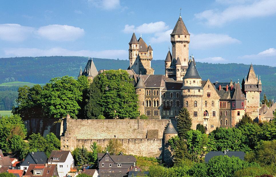 Ansicht des Schlosses Braunfels
